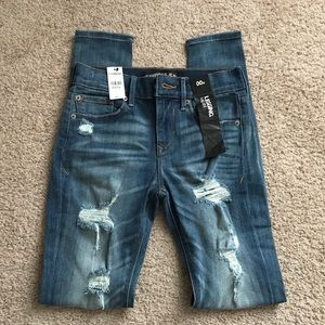 Express - Distressed Skinny Jeans NWT!
